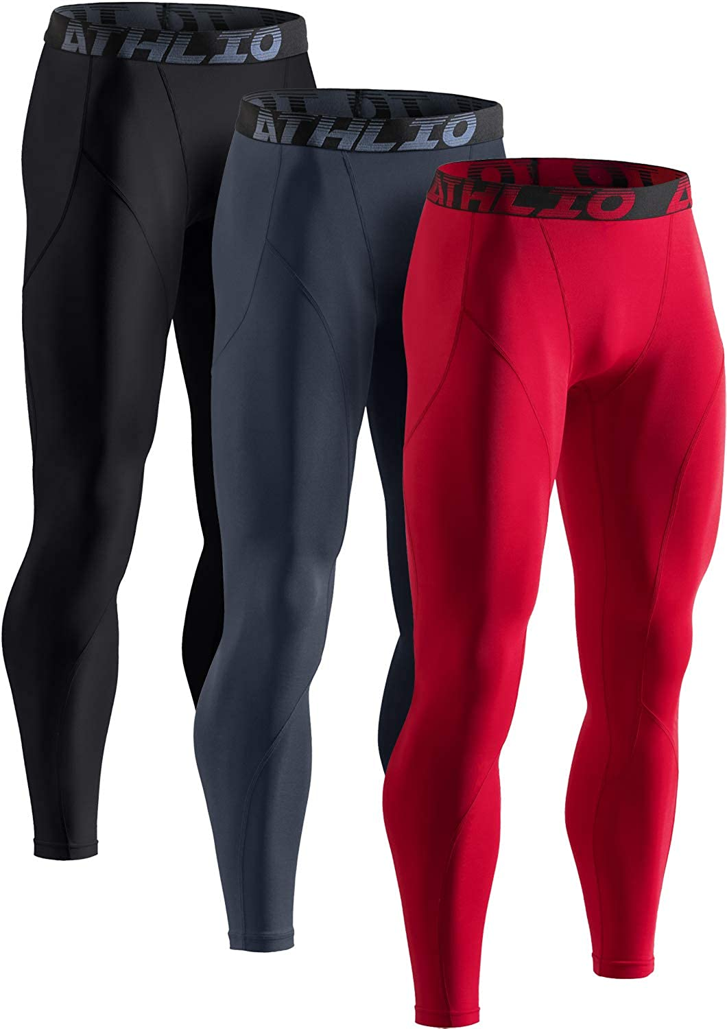 ATHLIO 1 or 3 Pack Men's Pants Dallas Mall Compression Max 41% OFF Thermal Run Athletic