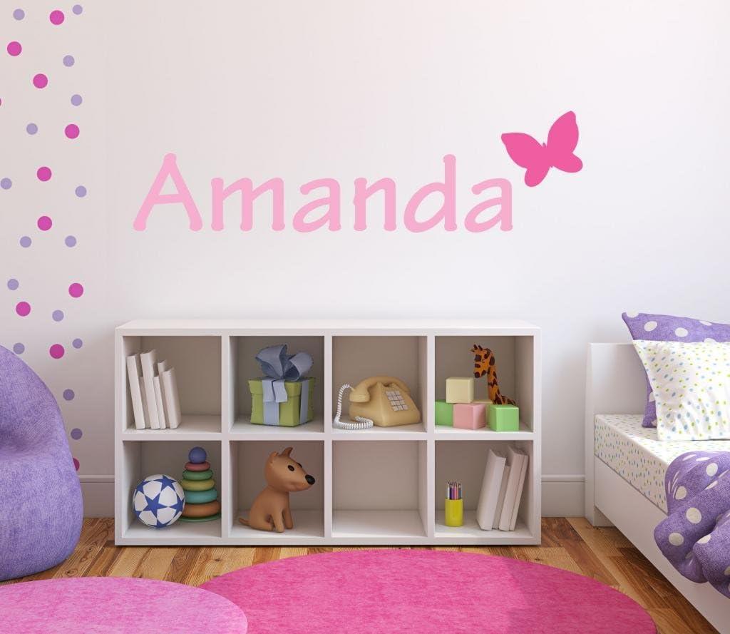 Nursery Butterfly Custom Name Wall Decal Wa Max 68% OFF Sticker High quality W 28