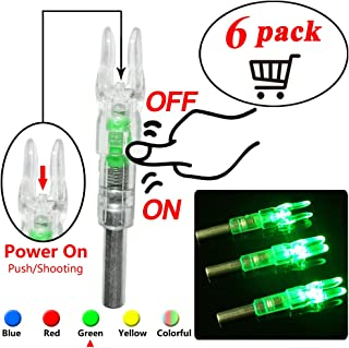 New Lighted Nocks for Arrows with .244 Inside Diameter Led Nocks with Switch Button for Archery Hunting