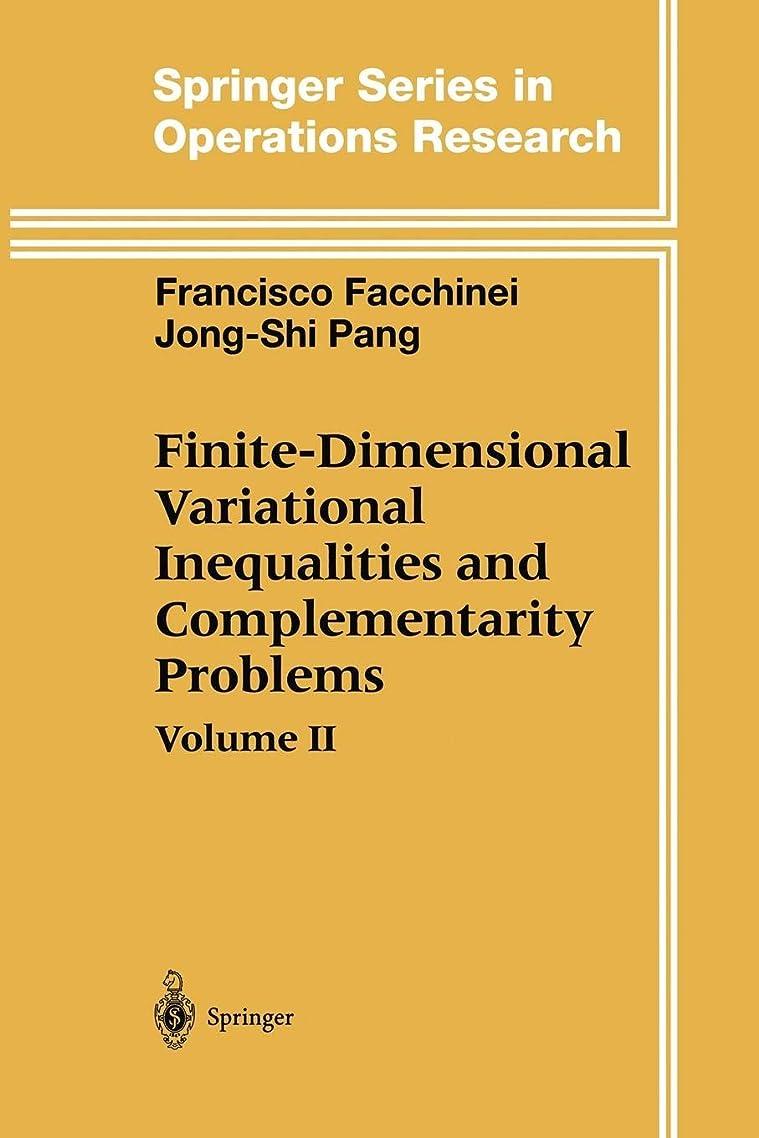 チップ極めて重要な回路Finite-Dimensional Variational Inequalities and Complementarity Problems Vol.2 (Springer Series in Operations Research and Financial Engineering)