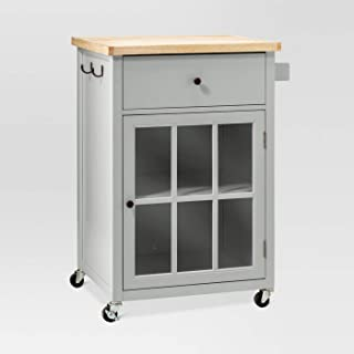 Threshold Windham Wood Top Kitchen Cart - Gray