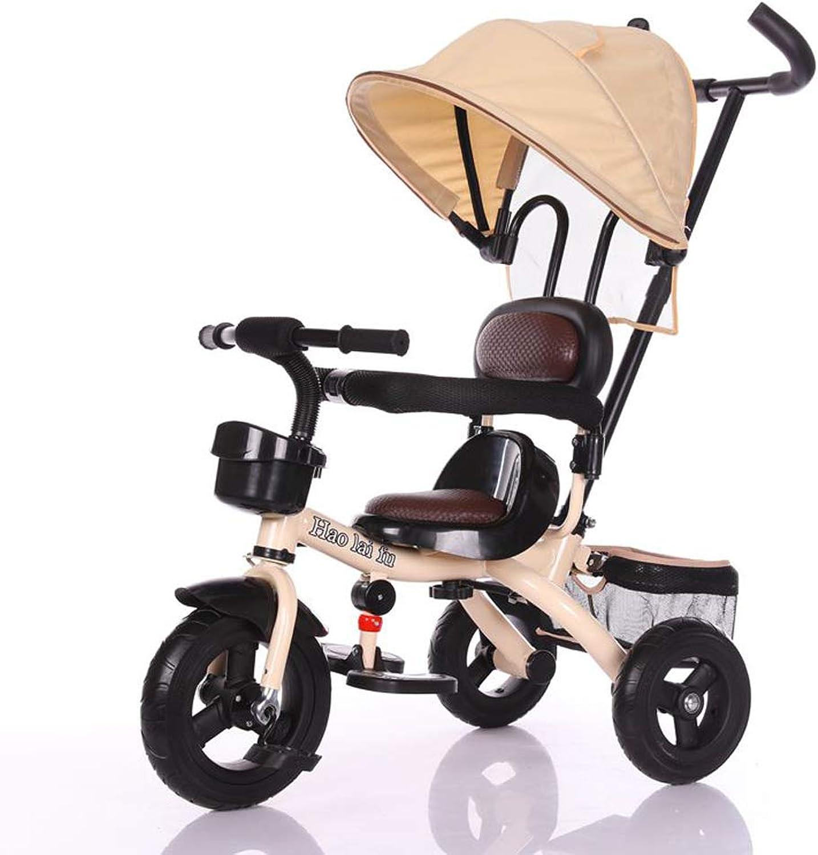 Ven a elegir tu propio estilo deportivo. Minmin Triciclo de Niños Multifuncional Bicicleta 1-6 años Cochecito Cochecito Cochecito de Bicicleta Bicicleta Hombres y Mujeres Cochecito de bebé (Color   marrón)  los clientes primero