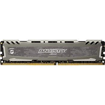 Crucial Ballistix Sport LT 3000 MHz DDR4 DRAM Desktop Gaming Memory Single 8GB CL15 BLS8G4D30AESBK (Gray)