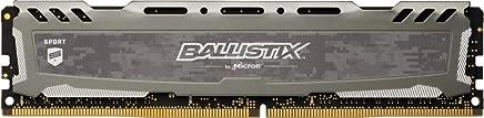 Ballistix Sport LT 8GB Single DDR4 3200 MT/s (PC4-25600) CL16 SR x8 DIMM 288-Pin Memory - BLS8G4D32AESBK (Gray)