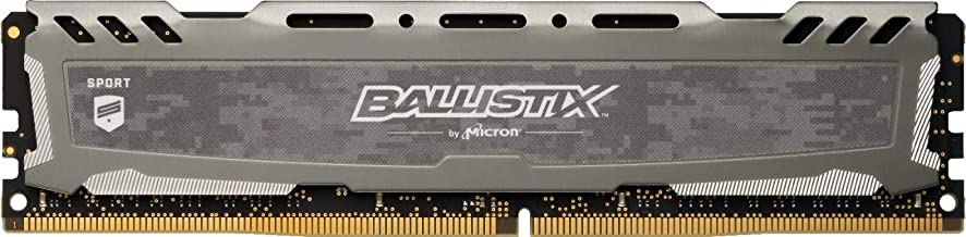 Crucial Ballistix Sport LT 2400 MHz DDR4 DRAM Desktop Gaming Memory Single 4GB CL16 BLS4G4D240FSB (Gray)