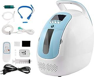 Hukoer Draagbare zuurstofconcentrator, 1-5 l/min, instelbare draagbare zuurstofmachine, 93% zuiverheid, draagbare zuurstof...