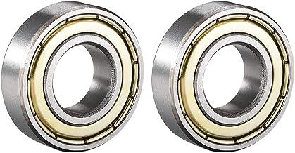 Sourcingmap 6002Z radiali cuscinetto a sfere doppio Shield 6002ZZ 6002/ 15/mm x 32/mm x 9/mm cuscinetti in acciaio al carbonio /2Z 80102 confezione da 2