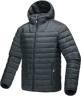 Men's Winter Lightweight Packable Outwear Hooded Down Jacket Puffer Coat