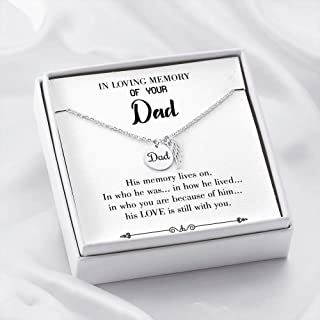 His Memory Lives Loss of a Dad, Sympathy Jewelry Gifts, Loss of a Parent, Rememb