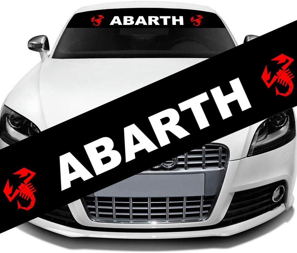 L U Car Styling Sonnenschutz Vordere Windschutzscheibe Banner Reflektierende Aufkleber Aufkleber 130x21cm For Abarth Küche Haushalt