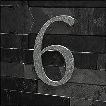 Antike Ziffer 6 Gründerzeit Hausnummer Nr.6 aus Gusseisen