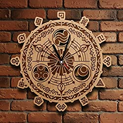 The Legend of Zelda Wooden Wall Clock Wood clock design Made Link Perfect gift and Beautiful Art Decorate your Home with MODERN Style UNIQUE GIFT idea for Him and Her (12 inches)