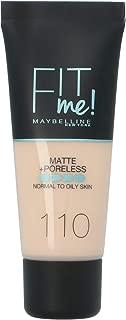 Maybelline New York Fit Me Matte & Poreless Face Foundation - 1.01 oz., 110 Porcelain