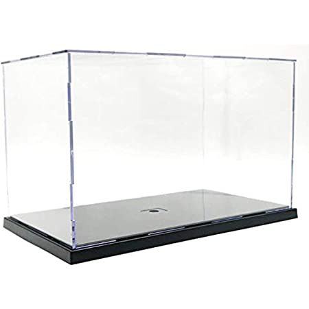 B Baosity Clear Acrylic Display Case Countertop Box Cube Organizer Stand Dustproof Protection Showcase for Action Figures//Toys//Collectibles Clear 10x10x20cm