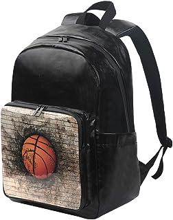 LUPINZ Mochila de baloncesto integrada en ladrillo para pared, multiusos, ligera, mochila de viaje