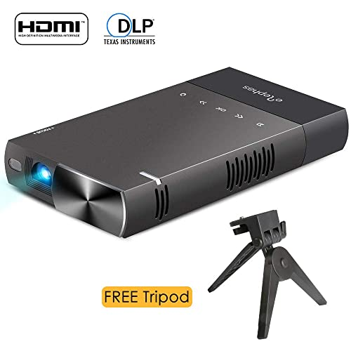 DLP mini projector for iPhone, ELEPHAS 100 Ansi Lumen Pico Video Projector Support 480P HDMI