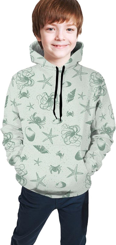 NewBHomeHome Teen Pullover Hoodie Fleece Sweater Fashion Hooded Sweatshirts Jacket
