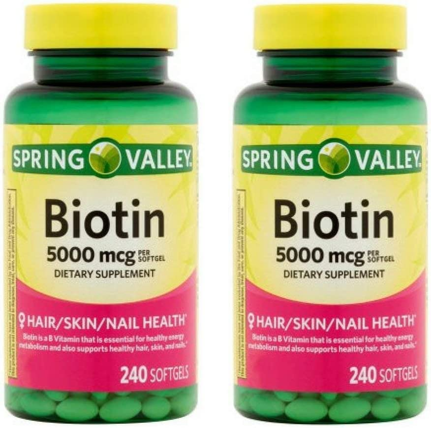 Free free shipping on posting reviews Spring Valley - Biotin 5000 Softgels 240 mcg by