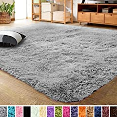 EXTRA SOFT AREA RUG: LOCHAS rug is incredibly soft and features a top layer of fluffy velvet with sponge interlayer, which is more softer and luxurious underfoot. Its comfy and warm fabric is very family-friendly and shields toes from the cold floor....
