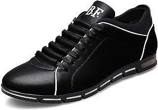 Zapatos de Cordones Hombre Cuero PU Zapatos Transpirable Deportes Zapatillas Negro Marrón Azul Amarillo Rojo 39-50