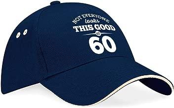 60th Birthday Baseball Cap Hat Gift Idea Present keepsake for Women Men