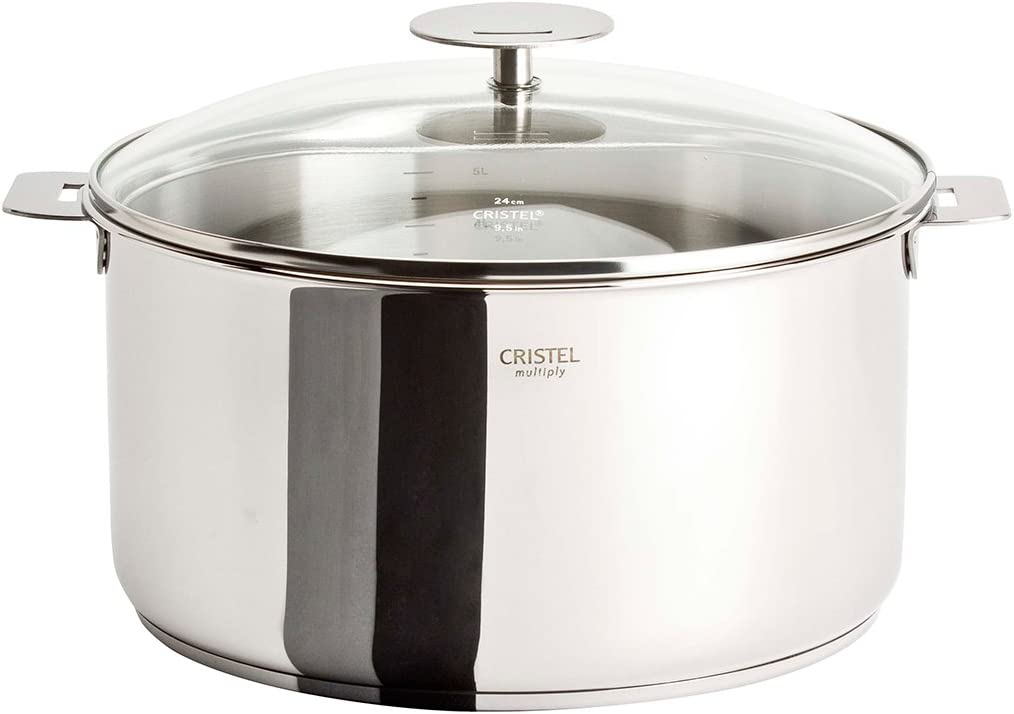 Cristel Multiply Stainless Steel 6 OFFicial store sold out Quart Stewpan Glass with Lid