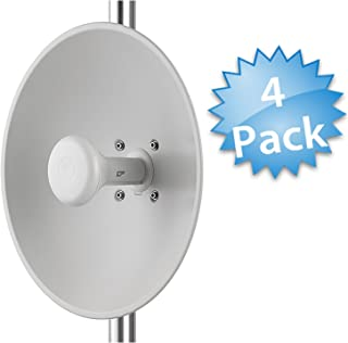 Cambium Networks [4-Pack] ePMP 2.4 GHz Force 200 High Performance Radio + High-Gain Dish Antenna - Outdoor CPE - Wireless Subscriber Module - 200 Mbps Throughput - (FCC) (C024900C161A)
