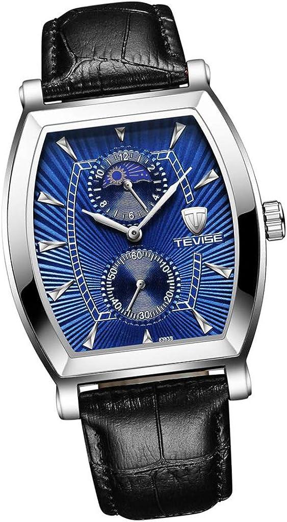 Nobranded Reloj de Cuarzo para Mujer Reloj de Pulsera Automático Pantalla Analógica Cuadrado Joyería para Hombre