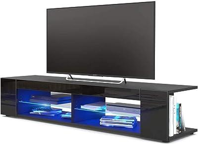 Home Bedroom Open TV Cabinet TV Cabinet Modern Living Room Furniture TV Cabinet Classic Modern Design TV Cabinet Annacboy (Color : Type B-Black)