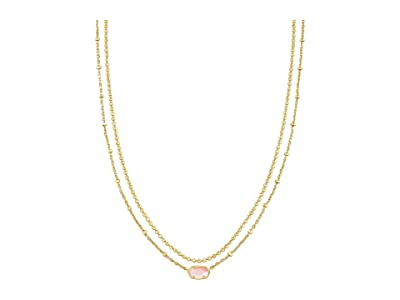 Kendra Scott Emilie Multi Strand Necklace (Gold Rose Mother-of-Pearl) Necklace
