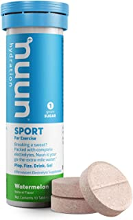 Nuun Active Hydration - Electrolyte Enhanced Drink Tabs, Watermelon, 10 Count