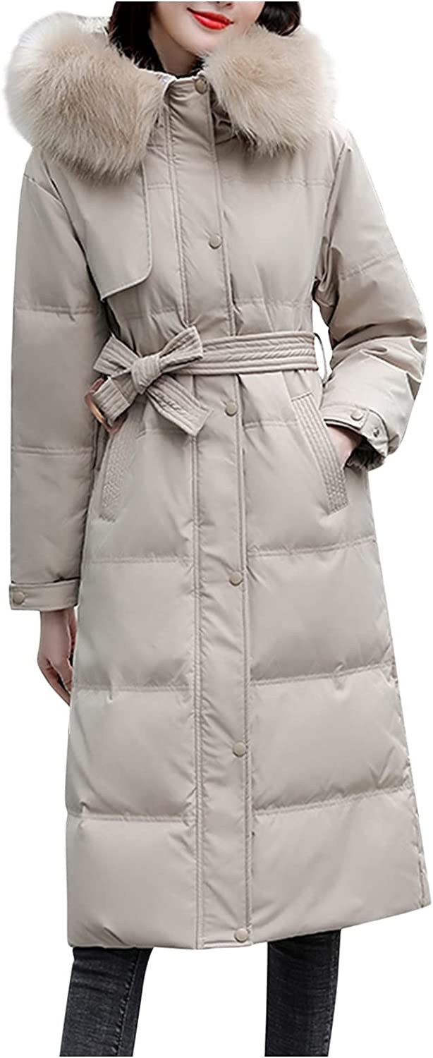 Women Fashion Outerwear with Pocket, Long Cotton-padded Jackets Suede Hooded Coats