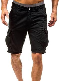 3ed5b145bf74c Shorts pour Hommes Travail Décontracté Combats de l'armée Cargo Shorts  Pantalons Pantalons Malloom
