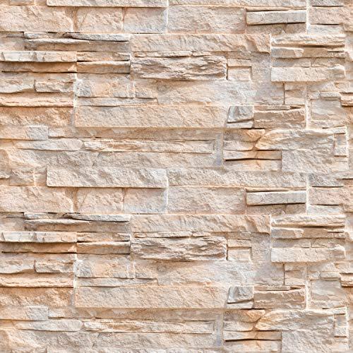 murando Tapete selbstklebend 10m Wandtattoo dekorative Möbelfolie Dekorfolie Fotofolie Panel Wandaufkleber Wandposter Wandsticker - Steinoptik Steinwand f-B-0216-an-a