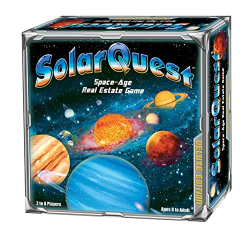 SolarQuest The Space-Age Real Estate Game: Deluxe Edition - Space Adventure - Family, Children, Teens, Adults - Educational - Competitive - Object: to Monopolize The Planets of Our Solar System -  90002