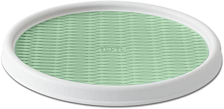 Copco 5224641 Non-Skid Pantry Cabinet Lazy Susan Turntable, 12-Inch, White/Green
