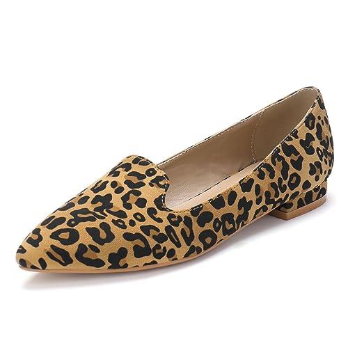 b2af39da0e11 Allegra K Women's Slip On Pointed Toe Loafer Flats