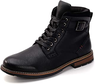 DREAMY STARK Men Casual Ankle Boot Motorcycle Chukka Boots with Side Zip