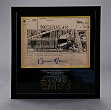 STAR WARS - EP IV - A NEW HOPE-Dennis Muren-Signed Original Production Storyboard - Wedge in Death Star Trench