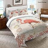 Laural Home Flamingo Comforter Queen