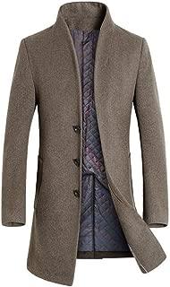 Men's Wool Trench Coat Slim Overcoat Business Down Jacket Winter Topcoat