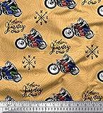 Soimoi Orange Samt Stoff Biker, Richtung Kompass und