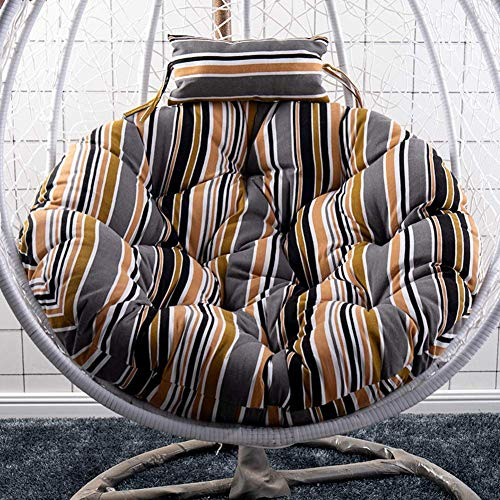 Opknoping Hangmat stoelkussens, zonder standaard Ronde Swing Seat Cushion Thick Nest opknoping Rug van de Stoel met kussen-r D105cm dljyy (Color : G, Size : D105cm(41inch))