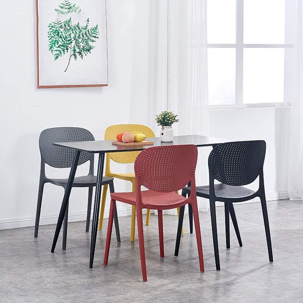 Wenhui Hipster Chaises empilables Modernes en Plastique moulé for Cuisine et Salle à Manger - Bleu - Entièrement assemblées (Color : Blue) Gray