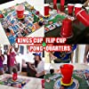 DRINK-A-PALOOZA Board Games: Party Drinking Games for Adults - Game Night Party Games | Fun Adult Beer Games Gift with Beer Pong + Flip Cup + Kings Cup Card Games + More! #3
