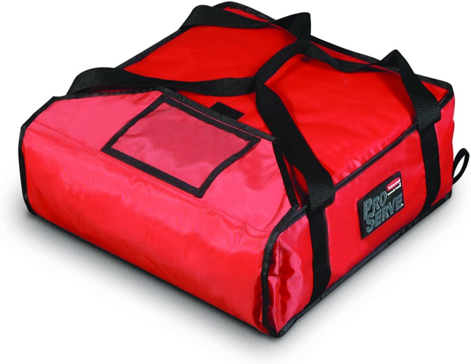 Rubbermaid Commercial Products FG9F3500RED Preserve Pizza Delivery Insulated Bag, Small, Red
