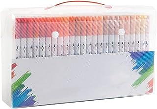 Zhicaikeji Lot de 120 marqueurs de couleur à tête souple - Couleur : blanc - Dimensions : 30,8 x 17 x 7 cm