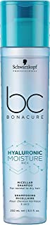 Schwarzkopf Professional Bc Hyaluronic Moisture Kick Micellar Shampoo, Blue, 250 ml