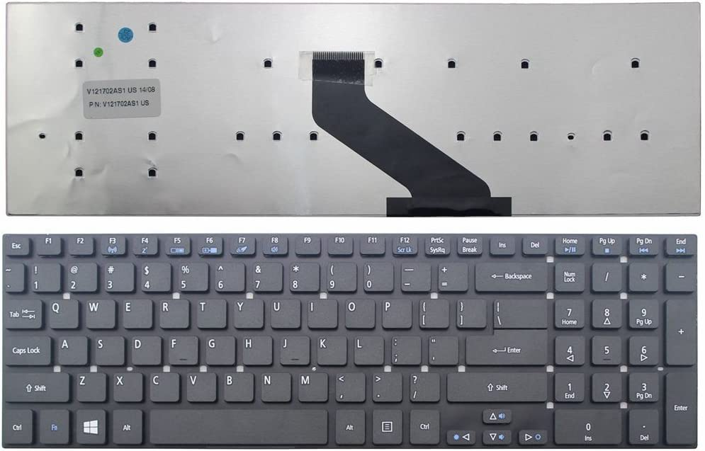 New Laptop Keyboard (Without Frame) Replacement for Acer Aspire V15 Touch V3-572P V3-572P-54CF V3-572PG-50S1 V3-572PG-56CY US Layout Black Color