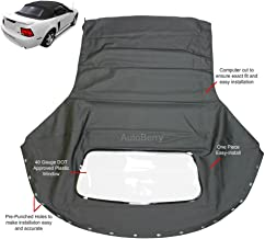 Replacement for: Ford Mustang 1994-2004 Convertible Soft Top & Plastic window Black Sailcloth (1 piece easy install)